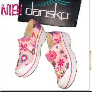NIB Dansko Slip Ons Pink Floral